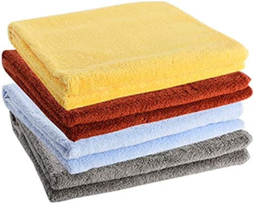 CanKun Toallas de baño Gruesas de algodón Egipcio 100%, Paquete de 4 Toallas de baño (30