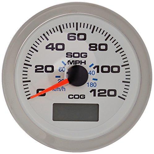 Sierra International 781-625-120P Scratch Resistant Premier Pro Gauge, 120 MPH GPS Speedometer, White, - Mph Gps 120 Speedometer