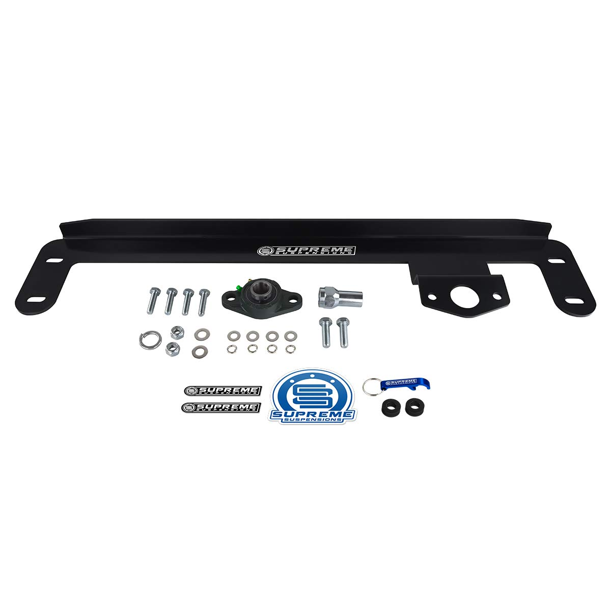 Supreme Suspensions Dodge Ram 2500 3500 Death Wobble Fix Steering Gear Box Stabilizer High Strength Steel Kit 4WD Gear Box Stabilizer for 2009