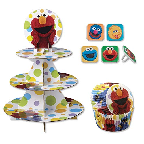 Sesame Street Cupcake Stand Kit with Liners and Toppers