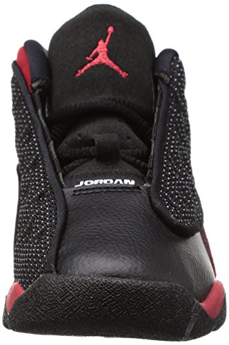 Jordan Retro 13 Unisex-Baby Fashion-Sneaker 414581 Schwarz, True Rot-Weiß
