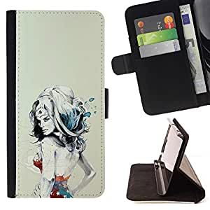 DEVIL CASE - FOR LG OPTIMUS L90 - Abstract Sexy Sci Fi Nurse - Style PU Leather Case Wallet Flip Stand Flap Closure Cover