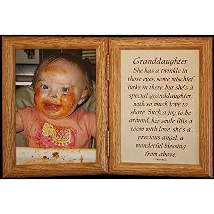 Amazon.com - 5x7 Hinged GRANDDAUGHTER Poem Oak Picture Photo Frame ...