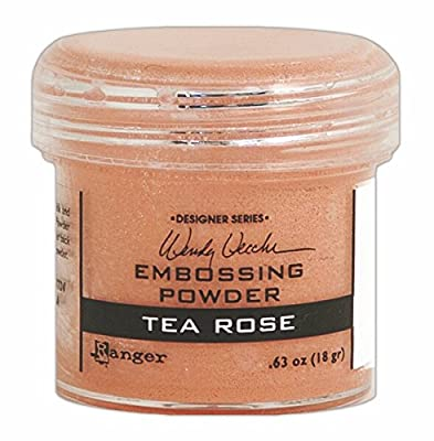 Ranger Wendy Vecchi Embossing Powders, 1 oz, Tea Rose by Ranger