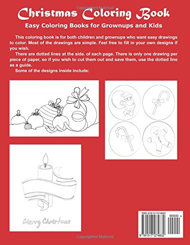 Amazon Com Christmas Coloring Book Easy Coloring Books For