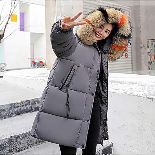 Donna Cappuccio Lunga Donna Piumino Giacca Ultraleggero Da Gray Lungo Soprabito Slim Con Invernale qgBOwwSxEX