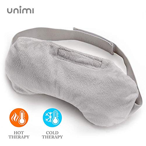 Unimi Lavender Eye Pillow, Aromatherapy Eye Mask for Sleeping, Weighted Sleep Mask for Men & Women, Hot/Cold Therapy Eye Cover for Yoga, Headache, Puffy Eyes, Migraine Relief, Sinus Pain