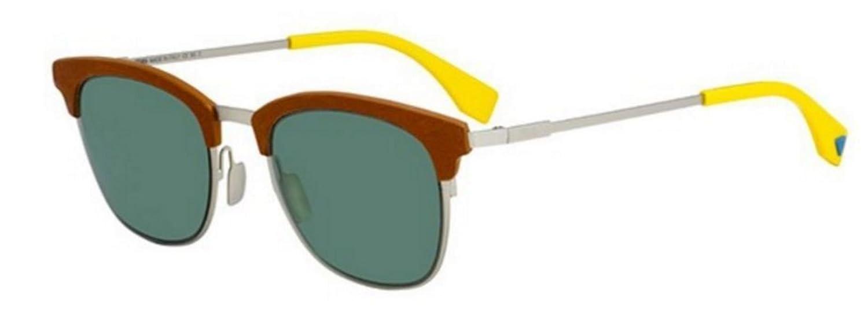 66225170cec3 Amazon.com  New Fendi QBIC FF 0228 S VGV QT Silver Red Green Sunglasses   Clothing