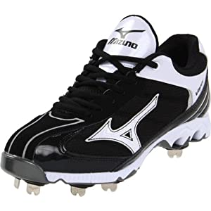 Mizuno Men's 9-Spike Lite Vapor Elite 5 Baseball Cleat,Black/White,10 M US