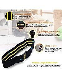 5BILLION Bandas de resistencia para ejercicios de cadera, para glúteos, muslos y glúteos, juego de bucles de diseño suave y antideslizante