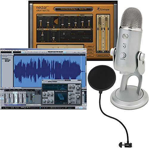 (Blue Yeti Studio All-In-One Pro Studio Vocal System with Recording Software and Gooseneck PoP filter)