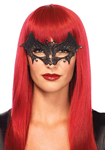 [Leg Avenue Women's Vampire Eye Mask Costume Accessory, Black, One Size] (Adult Vampire Halloween Costumes)