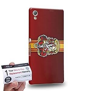 Case88 [Sony Xperia Z3+ / Z4] 3D Printed Snap-on Hard Case & Warranty Card - Harry Potter & Hogwarts Collections Hogwarts Gryffindor Sigil 0568