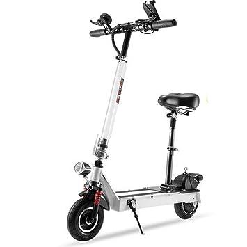 LETFF Mini Bicicleta Eléctrica Plegable 8 Pulgadas, 36V Doble Amortiguador Adulto Masculino Y Femenino Plegable