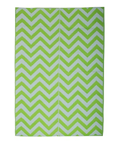 Chevron Floor Mat for Modern Home Décor. 4x6 size perfect as Kids Play Area Rug. Easy Clean, Waterproof and Foldable