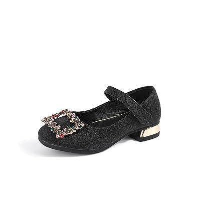 32f316d1fba Amazon.com: Rose town Children's Single Shoes Girls Soft Bottom high ...