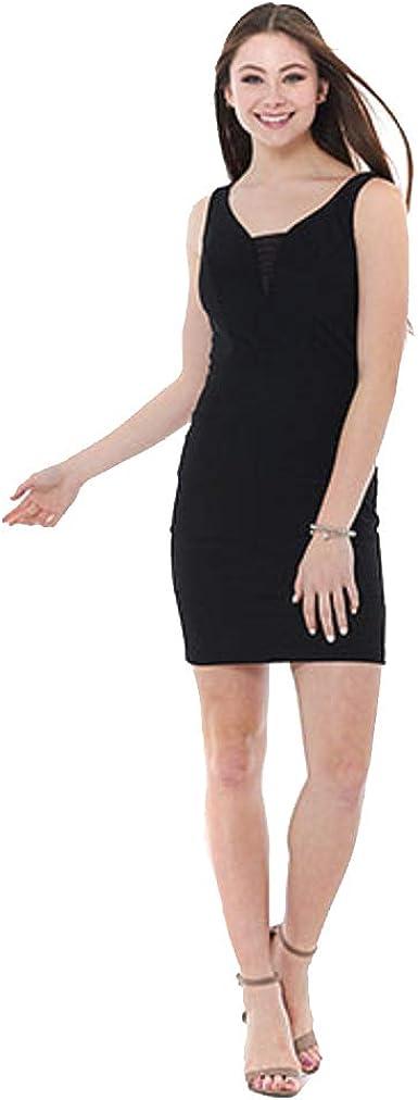 Crystal Doll Juniors Banded Illusion Halter Dress