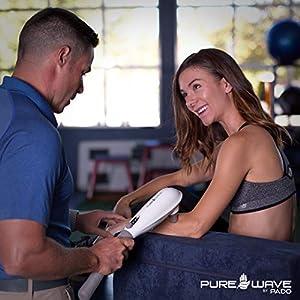 PUREWAVE™ CM-07 Dual Motor Percussion + Vibration Therapy Massager (White) | Official Patented CM-07™ | Treat pain for back, sciatica, neck, leg, foot, plantar fasciitis, tendinitis, arthritis, sports