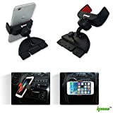 Ipow Universal 360°Rotation CD Slot Car Mount Holder Cradle for Iphone 6/5s/5c/5/4s/4, Samsung Galaxy S5/s4/s3 and GPS Device,(not compatible for iphone6 plus)