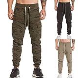 Leedford Men's Casual Pants, Men's Harem Casual Baggy Hiphop Dance Jogger Sweatpants Trousers Plus Size (3XL, Camouflage)