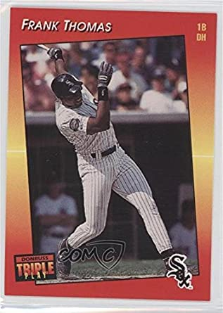 Amazoncom Frank Thomas Baseball Card 1992 Donruss Triple Play