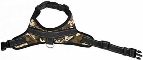 Camourflages M HoneyHome Haute Qualit/é Harnais Chien R/églable harnais pour Grand Gros Moyen Chien Accessoires Kit Confortable