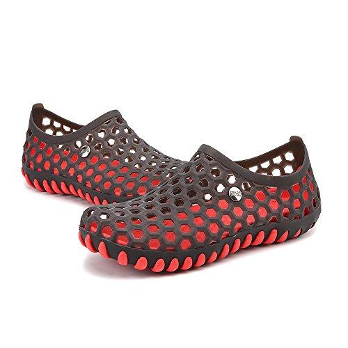 Eclimb Hombres Zapatos De Agua Sin Cordones Zapatos Ligeros De Vadeo Negro