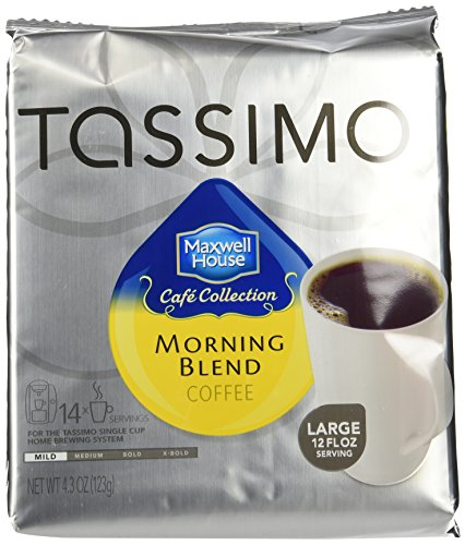 Maxwell House Cafe Collection Morning Blend,Mild, T-Discs for Tassimo (4 Pack)