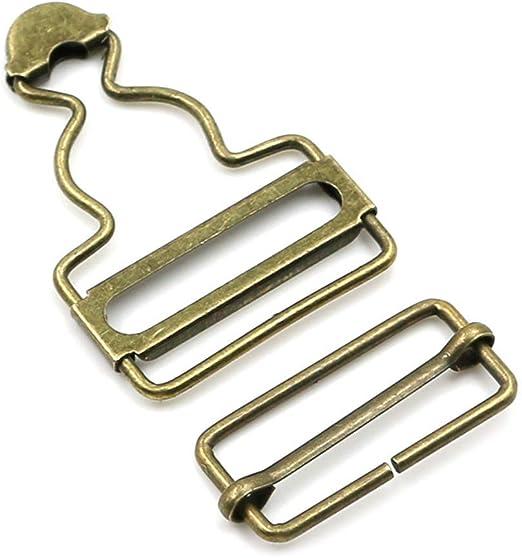Latzhosenträger-Clip bronze einfach Metall