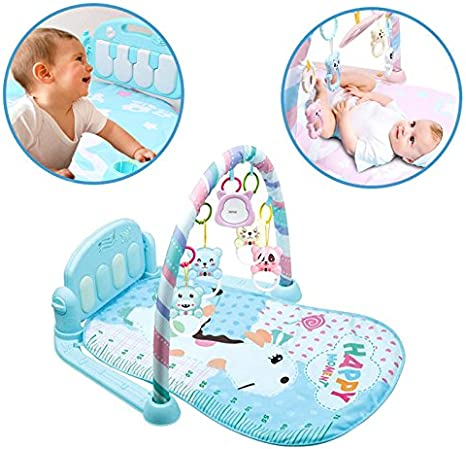 Howardee Baby Play Mat Gym Fitness Music Lights Fun Piano Boy Girl Fitness Rack Early Education