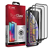 iCarez [Full Coverage Tempered Glass + Tray Installation] Screen Protector for iPhone Xs Max 6.5-Inch 2018 (Case Friendly) Easy Apply [ 2-Pack 0.33MM 9H 2.5D]