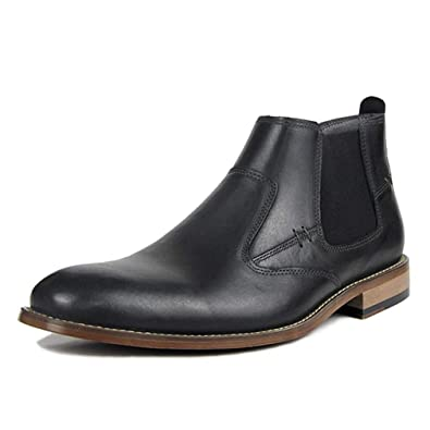 73386ff61 Image Unavailable. Image not available for. Color: Todaysunny Chelsea Boots  Men Leather Ankle Slip-on Boot Black Brown Formal Dress Casual Moccasins