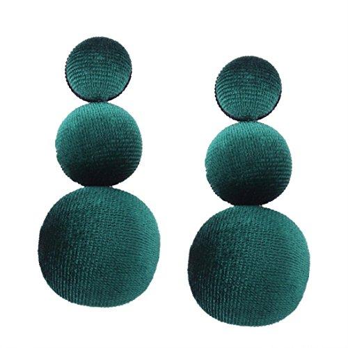 Elegant Solitaire (Fheaven Women Girl's Elegant Ladies Round Dangle Long Ear Stud Drop Earrings Fashion Jewelry Gift (D))