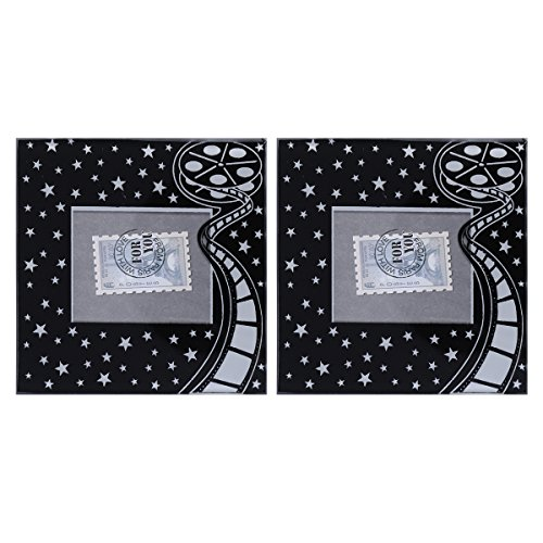 (TINKSKY 2Pcs Photo Frame Coaster Glass Coasters Baby Shower Gifts Wedding Party Favors (Stars))