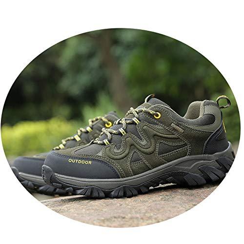Escursioni Scarpe grandi Camminate in verde di pelle estive Esercito dimensioni da Sport donna Qlx casual rPqrzt