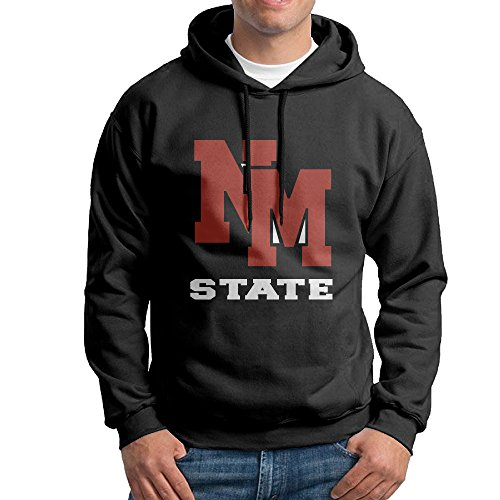 fan products of FUOALF Mens Pullover New Mexico State University Aggies Hoodie Sweatshirts Black M