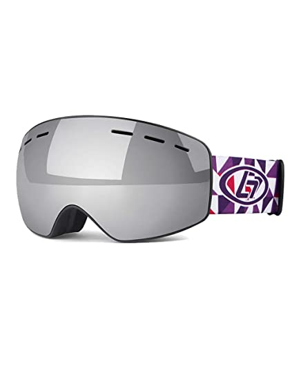 d976f52b8f93 Image Unavailable. Image not available for. Color  ROLLBERTO Kids Ski  Goggles for Boys and Girls Helmet Compatible Snow Goggles with 100% UV