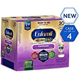 Enfamil NeuroPro Gentlease Infant Formula - Clinically Proven to reduce fussiness, gas, crying in 24 hours - Ready to Use Liquid Nursette Bottles, 2 fl oz (24 count) Packaging May Vary