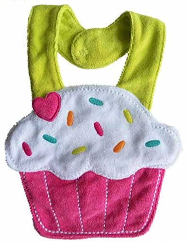 Lil' Oopsies Bibs for Toddlers - Premium Quality, 3 Layered Absorbent & Waterproof Teething, Feeding & Drooling Bibs. Unique Baby Shower Gift for Girls. Suitable for Husky Babies to Toddlers. Cupcake (Mud Pie Baby Girl 1st Birthday compare prices)