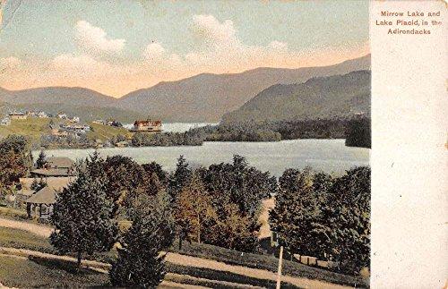 Lake Placid New York Mirror Lake Birdseye View Antique Postcard K83255
