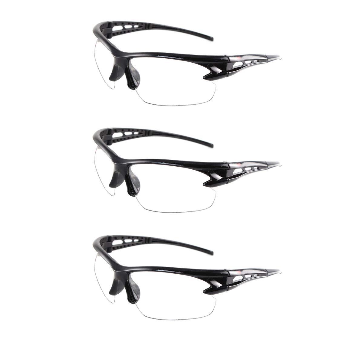 YAAVAAW 3 Pack Gafas de Seguridad Transparentes Gafas Proteccion -Gafas Protectoras Ojos con Lentes Plástico,Grandes Gafas para niños Nerf Gun Battles y Lentes de Seguridad de Trabajo de Laboratorio