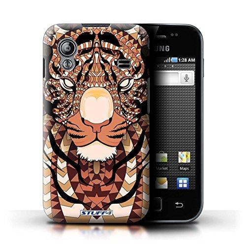 Stuff4 Hülle / Hülle für Samsung Galaxy Ace / Tiger-Orange Muster / Aztec Tier Muster Kollektion