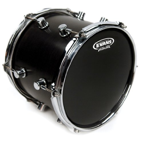 Evans Resonant Black Drumhead, 12 Inch ()