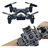 Megadream Mini RC Drone, 2.4G WIFI Foldable Watch Remote Control Quadcopter, 4CH 4 Axis, 0.3MP WIFI FPV Camera Pocket Size, for Children