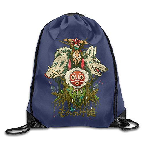 Princess Mononoke San Cosplay Costume (CYSKA Custom Princess Mononoke Cartoon Casual Sack Bag White)