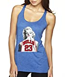 New Way 193 - Women's Tank-Top Marilyn Monroe Bulls 23 Jordan Jersey XS Royal Blue
