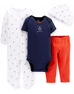 Blue Nautical 4 Piece Layette 3 Months