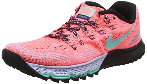 NIKE W Air Zoom Terra Kiger 3, Zapatillas de Running para Mujer Rojo (Lava Glow/Orchid/Black/Hyper Turquoise)