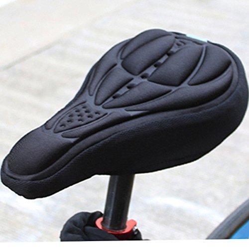 Radfahren Bike 3D Silikon Gel Pad Sitz Sattel, weiche Kissen, Mountain Bike Radfahren, Fahrrad Sattel schwarz