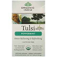 Organic India 38295 Organic Peppermint Tulsi Tea